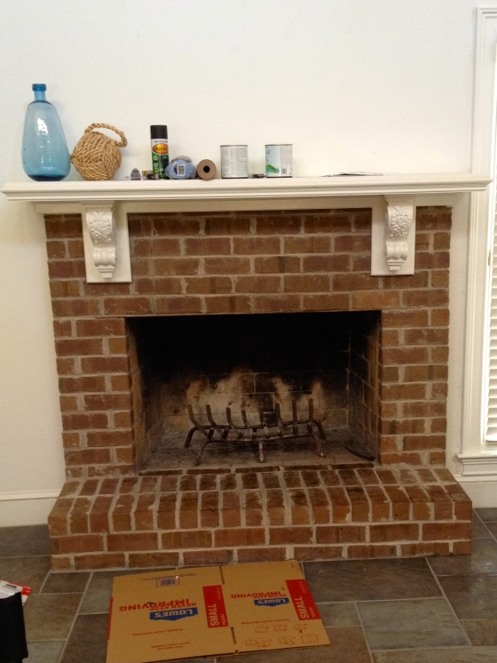The very 'un-beachy' fireplace